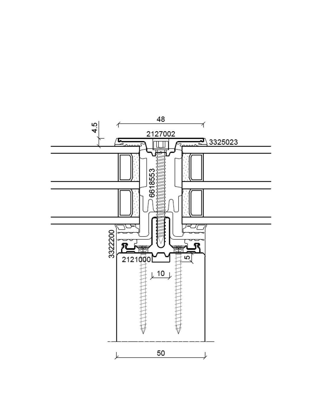 batimet holz aluminium pfosten riegel tm50 se sg. Black Bedroom Furniture Sets. Home Design Ideas